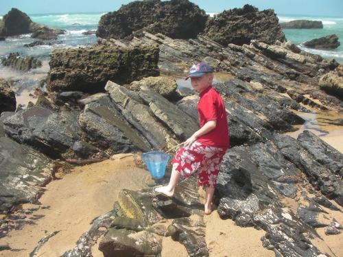 Eliot looks for fish