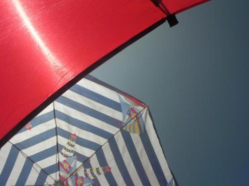 Beach Tent, Beach Brolly, Blue Sky, BLISS!