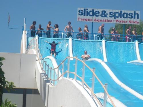 Nik and Jake on slide